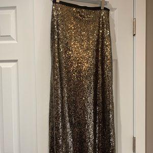 Dresses & Skirts - NEVER WORN!      Gold sequin long skirt